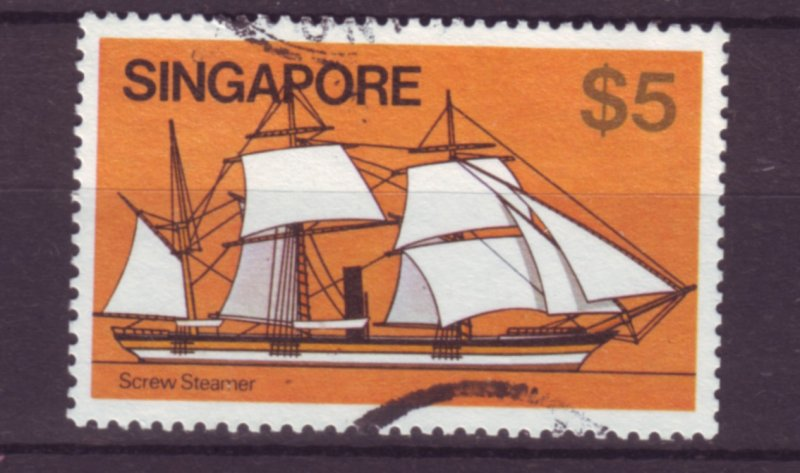 J21706 Jlstamps 1980 singapore used #347 ship