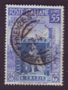 J22639 Jlstamps 1951 italy better hv of set used #589 stamp $37.50 scv