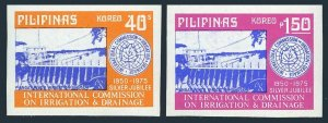 Philippines 1260a-1261a imperf,MNH.Mi 1139-40B.Commission on Irrigation.Dam,1975