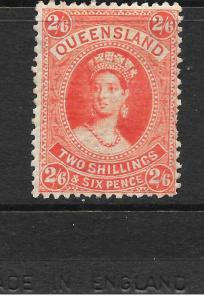 QUEENSLAND 1882-95  2/6     QV   MLH     SG 153