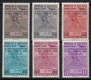 Venezuela #C581-6*  CV $11.00