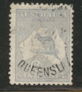 Australia Scott 48 used 6p ultra Kangaroo wmk 10 1915 CV$15