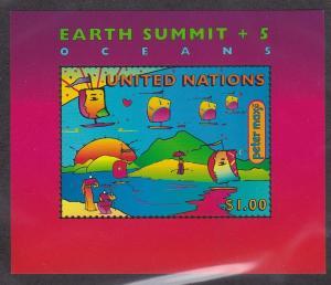 U.N. - New York # 708, Earth Summit, Peter Max, NH, Half Cat