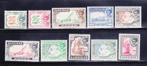 Zanzibar 249-258 MNH Various