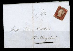 SG7, 1d red-brown PLATE 2, USED. Cat £325. ON COVER. MF