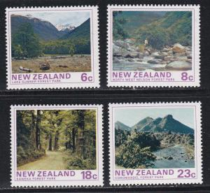 New Zealand # 577-580, State Forest Parks, NH, 1/2 Cat.