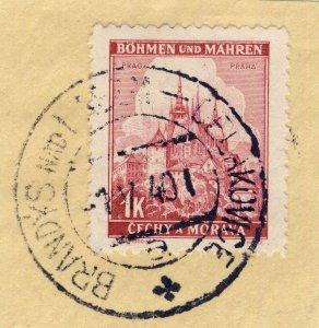 BÖHMEN u. MAHREN 1940 BRANDÝS nad LABEM-CELAKOVICE a * railway carrier CDS Mi.28