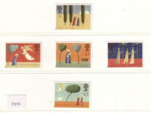 Great Britain Sc 1708-12 1996 Christmas stamps mint NH