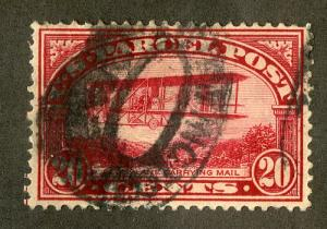 UNITED STATES Q8 USED SCV $25.00 BIN $9.00 AIRPLANE CARRYING MAIL