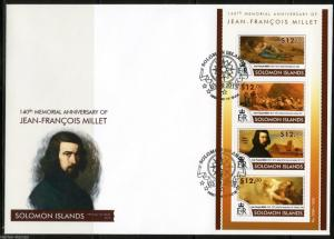 SOLOMON ISLANDS  2015  JEAN FRANCOIS  MILLET   SHEET  FIRST DAY COVER