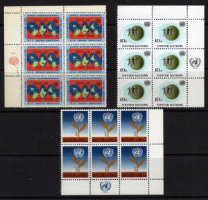 United Nations New York Sc.# 125-27 Incraption Block of 6 MNH (F12 )