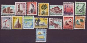 J19055 Jlstamps 1961-3 south west africa set mnh #266-80 designs wmk 330