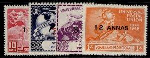 SOMALILAND PROTECTORATE GVI SG121-124, anniversary of UPU set, M MINT.