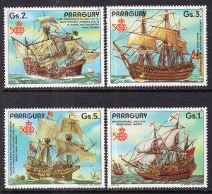 Paraguay 2213a-2213d Sailing Ships Singles MNH VF