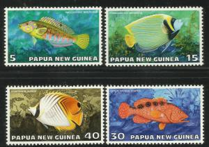 Papua New Guinea 1976 Tropical Fish Scott# 442-445 MNG complete set