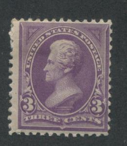 1894 US Stamp #253 3c Mint Hinged Fine Original Gum Catalogue Value $110