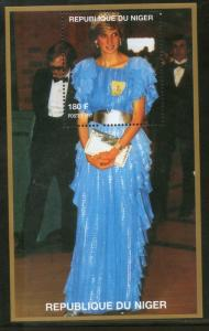 Niger MNH S/S 5670 Lady Diana In A Blue Dress 1997