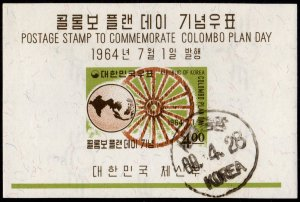 Korea - Cancelled Souvenir Sheet Scott #444a (Globe and Wheel)