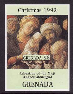 Grenada-Sc#2127-unused NH sheet-1992 Christmas-Paintings-Ado