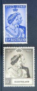 Basutoland 1948 Silver Wedding SG36/7 Mounted Mint