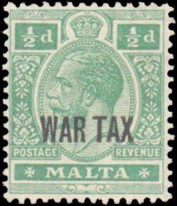 Malta #MR1, Complete Set, 1918, Hinged