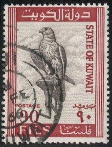 KUWAIT 1965 Sc 298, Used  90f  Falcon / Bird, VF
