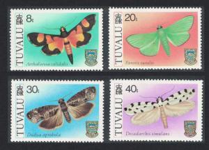 Tuvalu Moths 4v 1980 MNH SG#149-152
