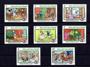 TURKS & CAICOS - 1982 - DISNEY- MICKEY - CHRISTMAS CAROL - MINT - MNH SET OF 9!