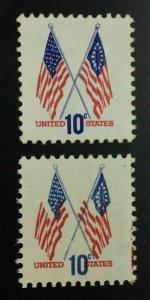 MOMEN: US STAMPS #10c FLAG COLOR SHIFT MINT OG H LOT #53010