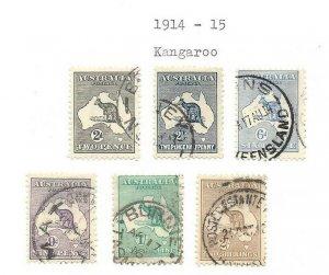 Australia #38 thru #43 Excellent Stamps High CV $$$$