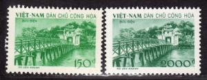 $N. Viet Nam Sc#86-87 M/NH, complete set, Cv. $32.50