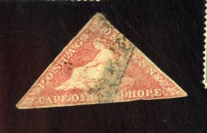 CAPE OF GOOD HOPE #3A USED FVF CAT $425