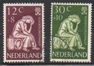 Netherlands Sc B341-42 1960 Refugees stamp set used