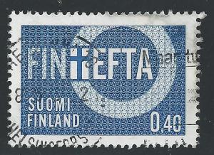 Finland #444 40p Finefta Finnish Flag and Circle
