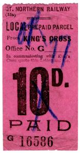 (I.B) Great Northern Railway : Local Parcel 10d (King's Cross)