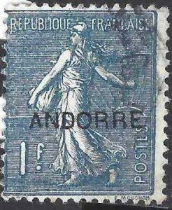 Andorra French 1931 SC 16 Used SCV$ 45.00