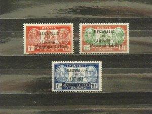 6373   Wallis Futuna   MH # 117, 118, 119                   CV$ 12.75