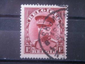 BELGIUM, 1931, used 1f, King Albert, Scott 227