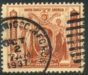 US PHILIPPINES 1936 2c President Quezon Commonwealth Issue Sc 408 VFU