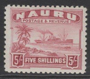 NAURU SG38B 1937 5/= CLARET MTD MINT