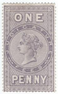 (I.B) QV Revenue : Judicature Fees 1d (1876)