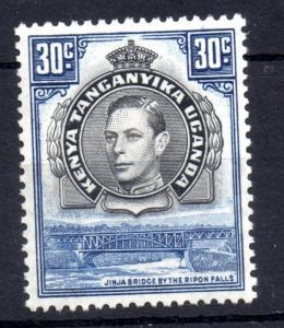 KUT 1938 KGVI 30c blue SG141 mint MH WS10498