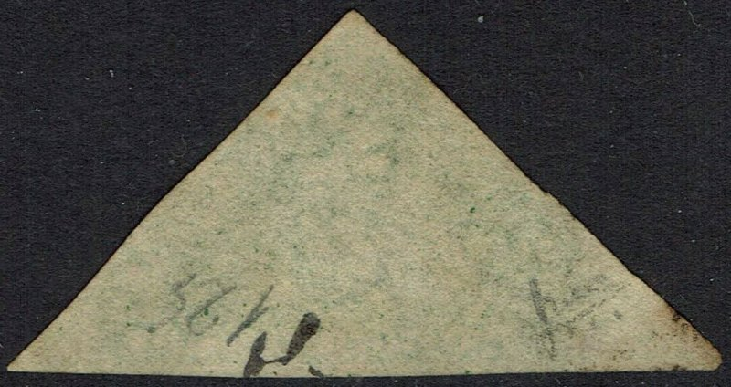 CAPE OF GOOD HOPE 1855 TRIANGLE 1/- PERKINS BACON PRINT USED