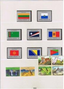 UN NY #744-771 MVFLH OG  1999 complete set  w/block & SS's Free S/H