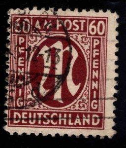 Germany  Scott 3N18 Used AMG 1948 stamp
