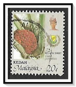 Kedah #135 Agriculture - Coat of Arms & Sultan Used