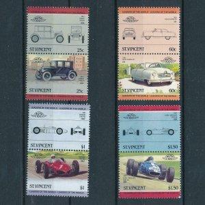 [106537] St. Vincent 1985 Classic cars Essex Ferrari  MNH