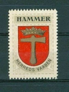 Denmark. Poster Stamp 1940/42. Mnh. District  Hammer.  Coats Of Arms. Crown