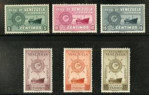 VENEZUELA 632-4, C554-7 MNH SCV $22.05 BIN $12.00 SHIPS