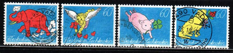 Liechtenstein # 1025-28 ~ Cplt Set of 4 ~ Used, HMR ~ cv 3.20